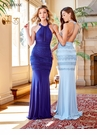Lace Detail Halter Prom Dress 3449 | 3 Colors!