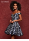 Laser Cut Floral Homecoming Dress 3677