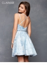 Light Blue Floral Homecoming Dress 3620