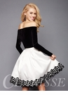 Long Sleeve Velvet Homecoming Dress 3346