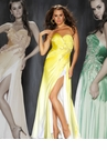 Mac Duggal Yellow Strapless Prom Dress 42462