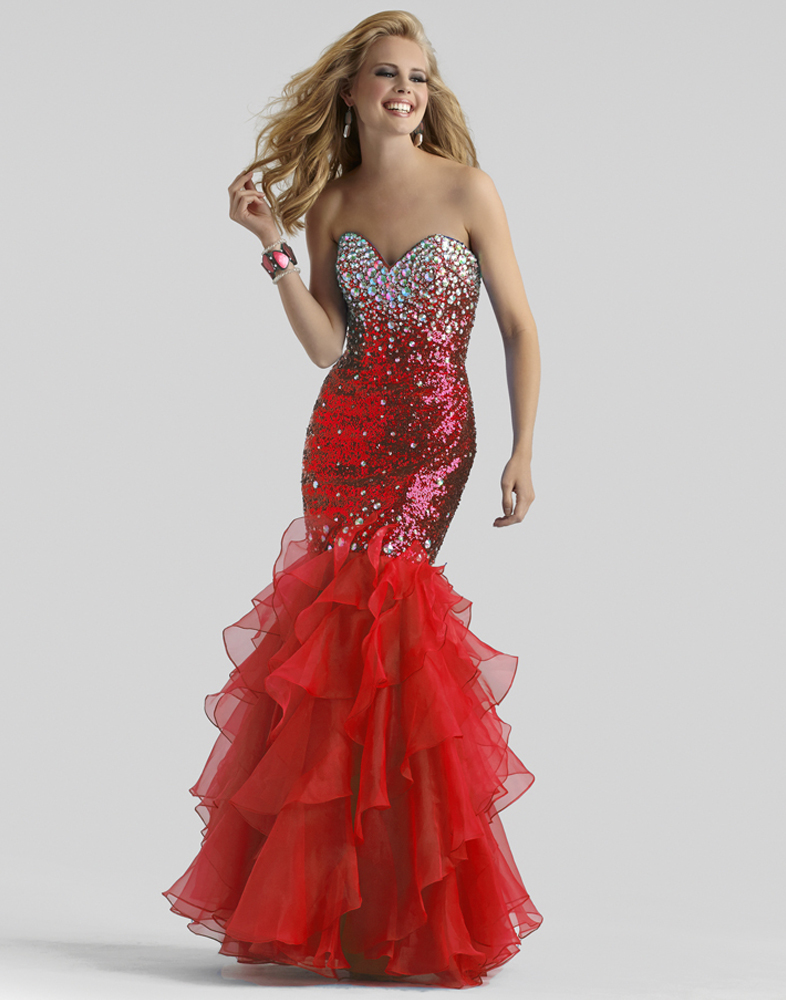 Clarisse 2014 Red and Blue Sequins Prom Dress 2304 ...