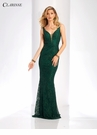 Metallic Lace Peplum Prom Dress 3558 | 2 Colors!