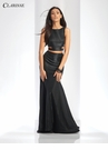 Metallic Two Piece Prom Dress 3486 | 4 Colors!