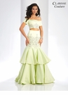 Mint Two Piece Mermaid Prom Dress 4915