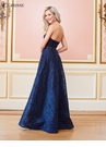 Navy Strapless A-line Evening Gown 3570
