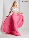 Off the Shoulder A-line Two Piece Prom Dress 3531