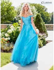 Off the Shoulder Lace Ball Gown 3553 | 2 Colors