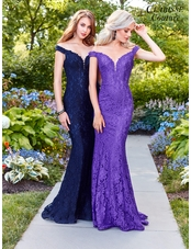 Off the Shoulder Lace Evening Gown 4801 | 8 Colors!