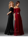 Off The Shoulder Ruched Evening Gown M6404