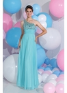 Aqua One Shoulder Sparkle Gown 71173