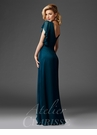 Flutter Sleeve Evening Gown M6401