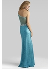 One Shoulder Sequin Gown 2363