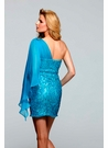 One Shoulder Sequin Homecoming Dress 2025