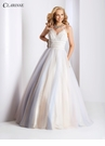 Pastel Crochet Lace Ball Gown 3503
