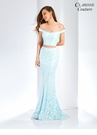 Pastel Lace Two Piece Prom Dress 4918