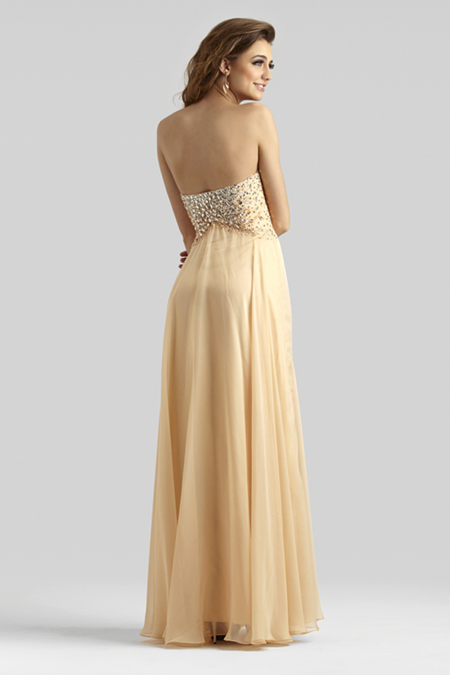 Clarisse 2014 Peach Bellini Nude Champagne Strapless Sweetheart A ...
