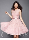 Pink Lace Short Formal Dress 3335