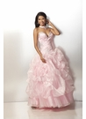 Pink Organza Ball Gown 17140