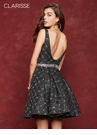 Printed Brocade Homecoming Dress 3684