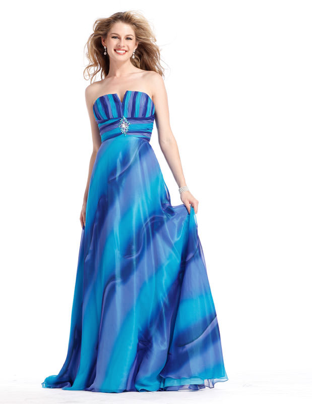 Prom Dress 1371 is a blue ombre evening gown from Promgirl.net ...