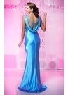 Elegant Cowl Back Evening Gown 18726