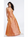 Orange Halter Ball Gown 9130