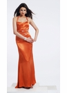 Orange Halter Prom Dress 9216