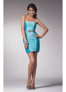 Colorblocked Ruched Cocktail Dress 1542