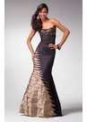 Black/Leopard Print Mermaid Gown 1563