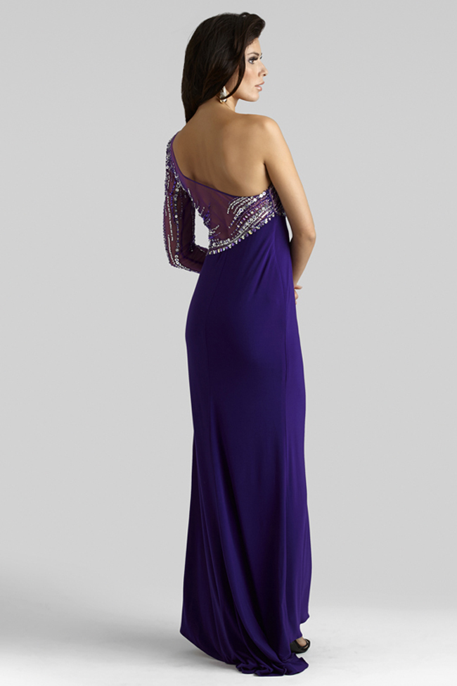 02f9396452 Purple Gown 2314 by Clarisse Purple Gown 2314 by Clarisse. Item Number   C2314. Neckline  One Shoulder. Silhouette  Fitted