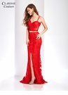Red Lace Two Piece Prom Dress 4948