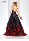 Red Rose High Low Evening Gown 4943
