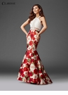 Rose and Lace Halter Mermaid Prom Dress 3423