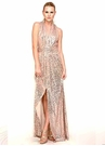 Rose Gold Badgley Mischka Gown 0348A