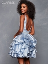 Ruffled Periwinkle Homecoming Dress 3626