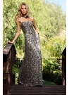 Scala Metallic Sequin Prom Dress 04101