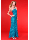 Scala One Shoulder Sequin Prom Dress 4088