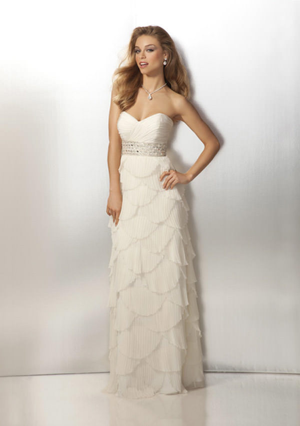 Prom Dresses 2012 with Scalloped Skirt Antique Style