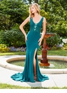 Scoop Neck Lace Detail Prom Dress 3575 | 5 Colors!