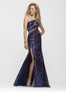 Sequin One Shoulder Clarisse Dress 2166