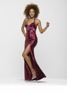 Magenta Sequin Prom Gown 2142