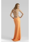 Sequin Cut Out Prom Gown 2338