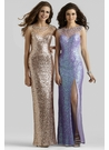 Rose Gold Sequin Prom Dress 2350
