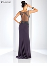 Sheer Long Beaded Prom Dress 3542 | 2 Colors!