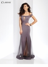 Sheer Prom Dress with Matching Choker 3518 | 3 Colors!