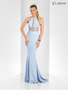 Sheer Waist Long Prom Dress 3411| 2 Colors!