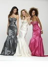 Silver Taffeta Mermaid Prom Gown 2141