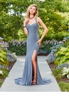 Simple Prom Dress with Zipper Detail 3458 | 3 Colors!