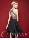 Sparkling Layered Chiffon Homecoming Dress 3361